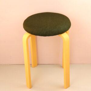 オーダー家具 丸椅子 グリーン